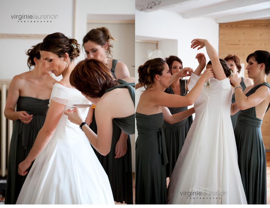 la robe de mariée avec les amies