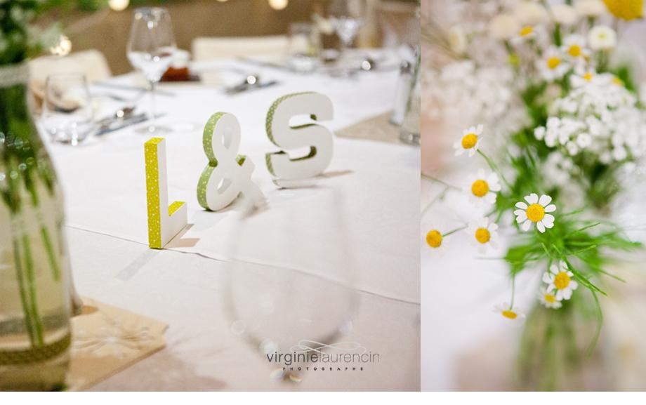 mariage réception salle décoration