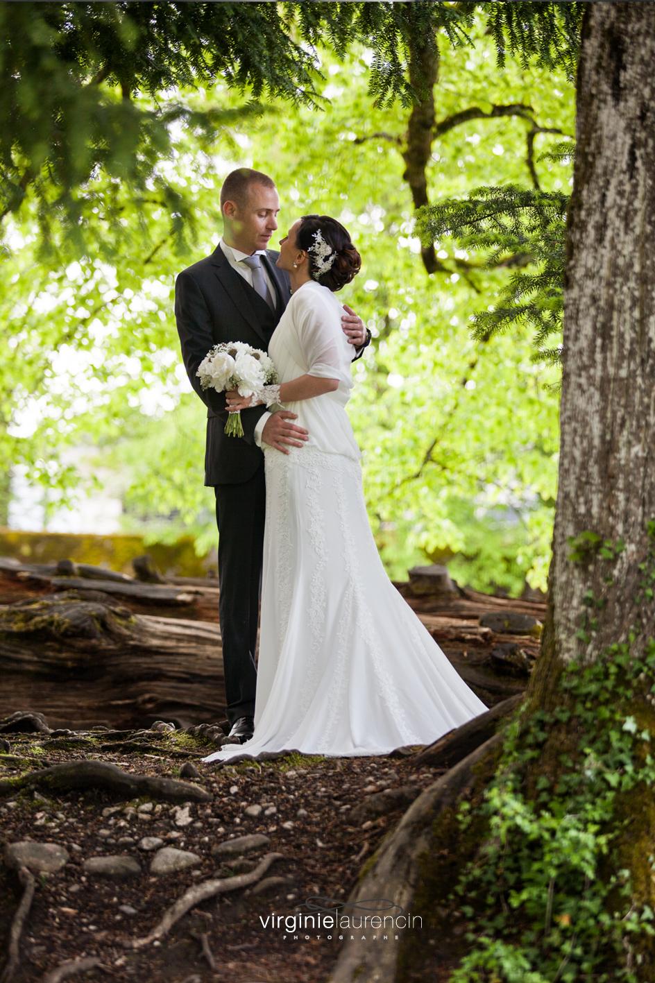 Couple sous bois